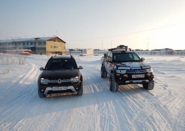 В Хатанге встретили Рено Дастер, который буквально за неделю до нас приехал туда своим ходом через Якутию.